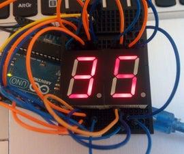 Arduino simple 7 segment countdown timer