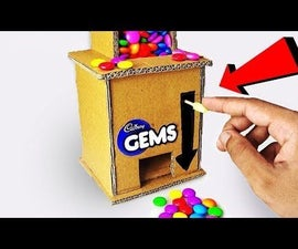 How to Make GEMS CANDY Dispenser Machine Out of Cardboard DIY at Home