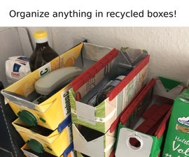 Organize Things With Recycled Milk Carton Boxes