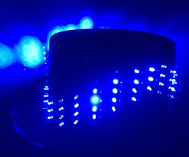 25x8 LED Hat, for parties and other useful things