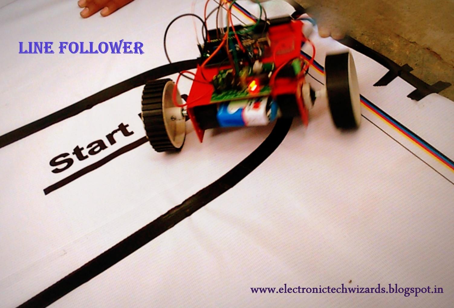 Picture of SIMPLE LINE FOLLOWER ROBOT(single Sensor)