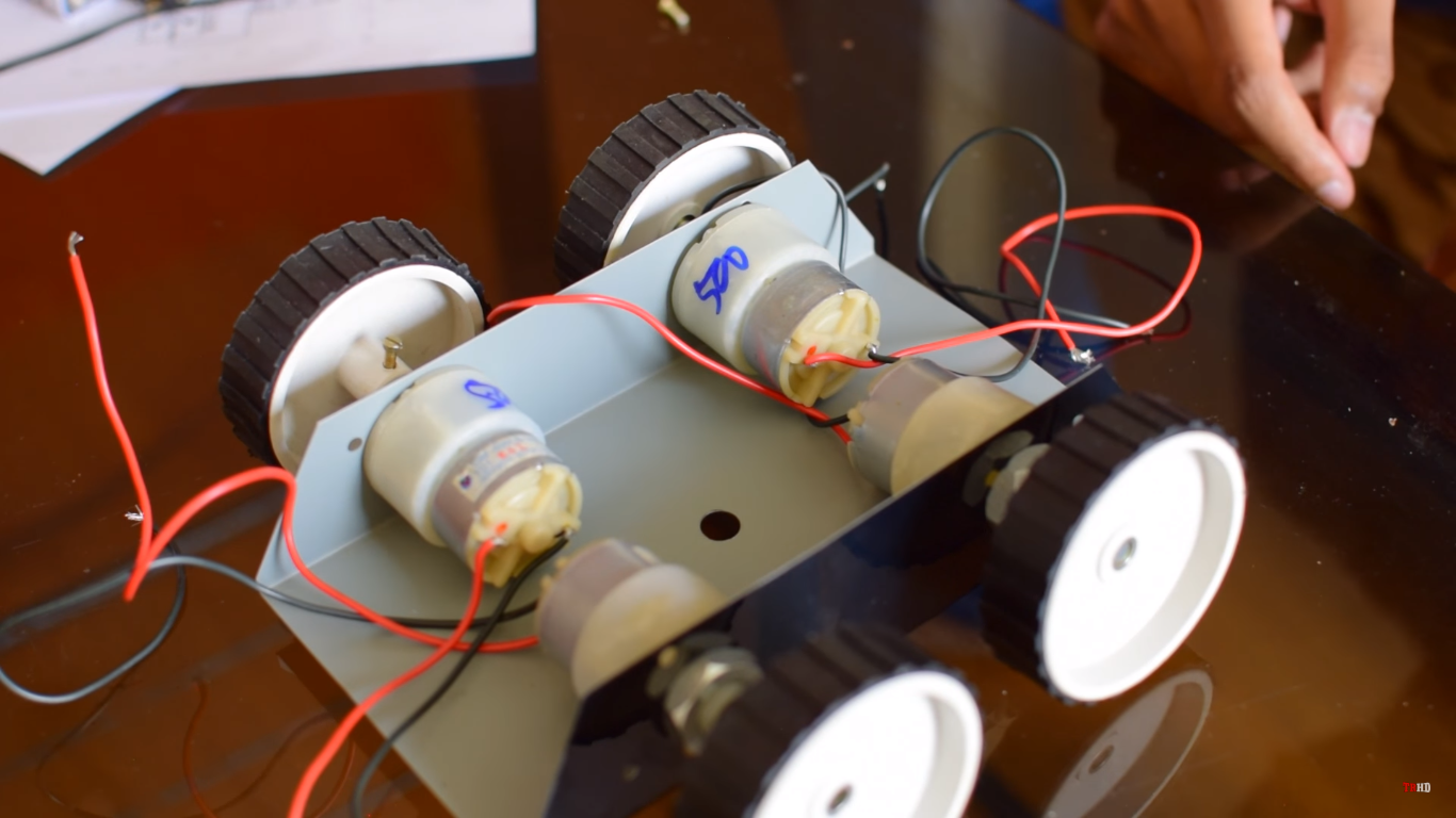 Picture of Attach the Motors to the Chassis