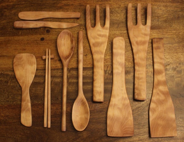 Make a Bunch of Kitchen Utensils From a Block of Wood