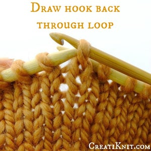 Draw Hook and Strand Back Through the Loop, Towards You