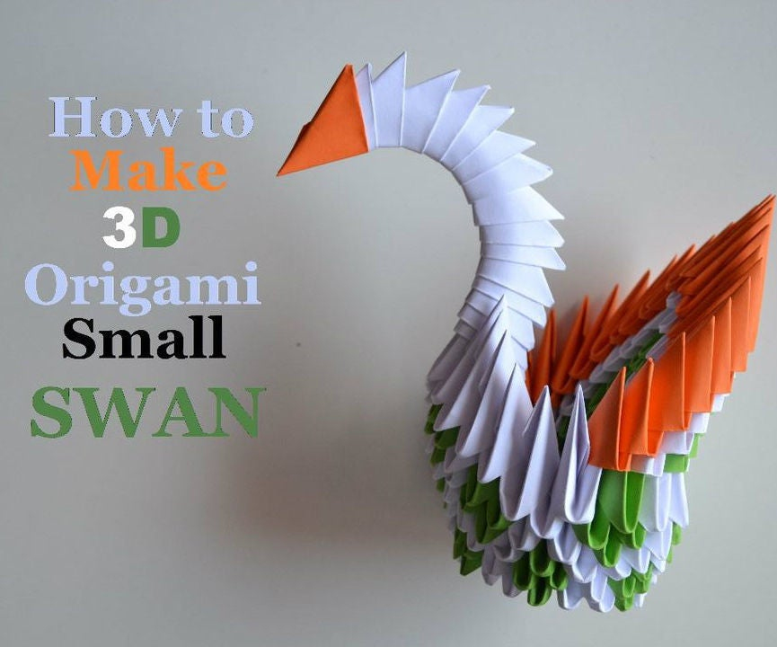 How to make 3d origami small swan 2 tutorial / DIY paper small ... | 720x865