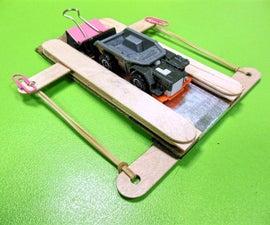 热轮式款式玩具车的便宜和简单的弹射器