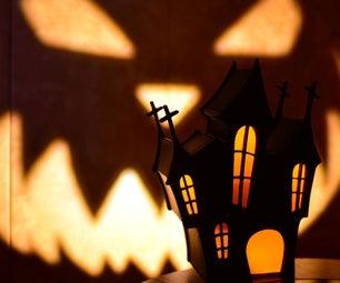 Halloween Scary House Lamp