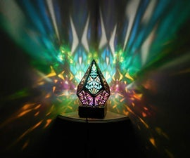 Five Pointed Rainbow Prism Lamp