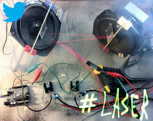 Picture of LaserTweet - Twitter Projecting Laser Show