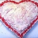 Easy Valentine's Day Heart Cake