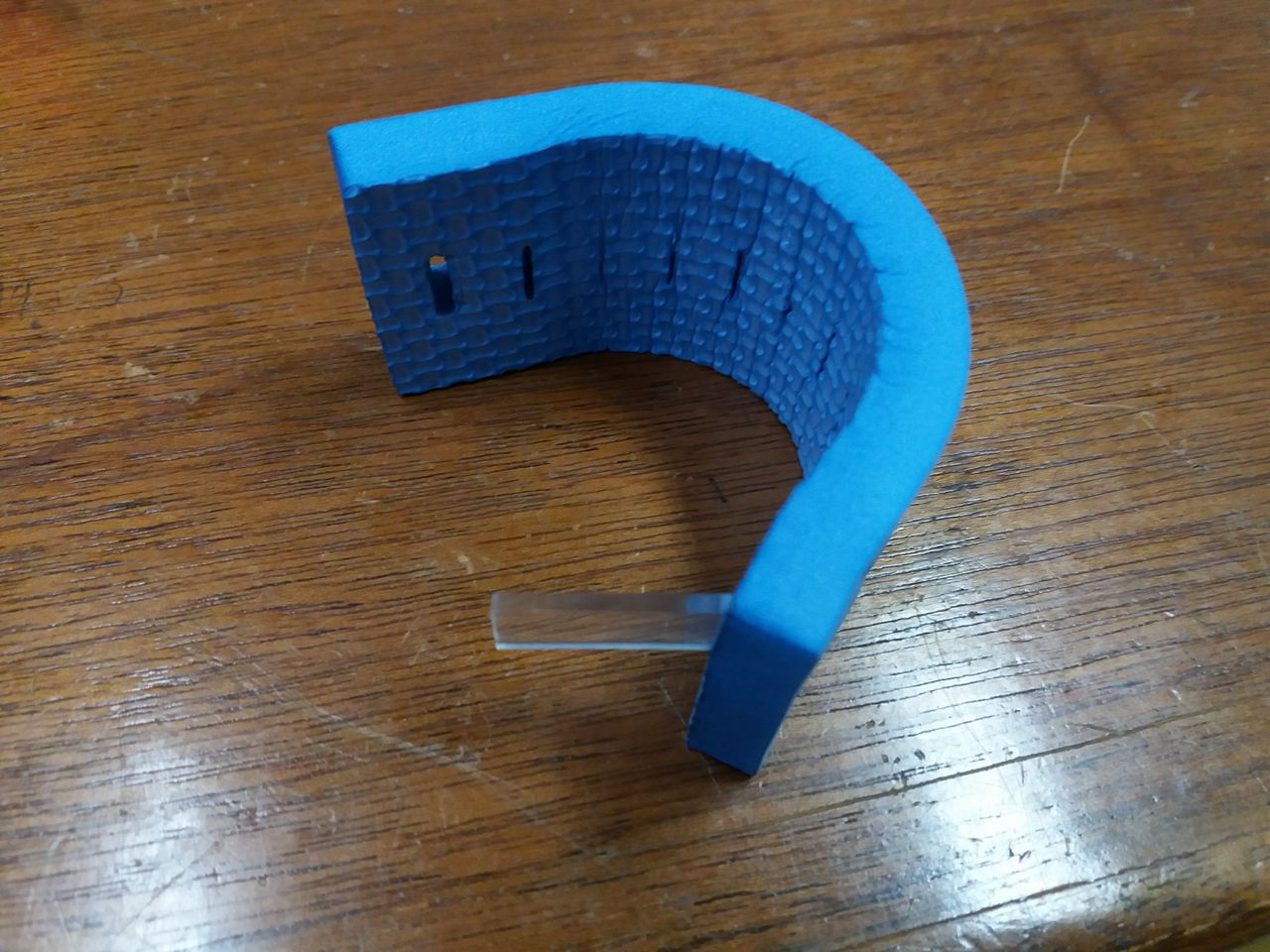 """Picture of Attach the """"T"""" Part to the Foam Belt"""