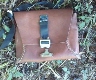 Leather Courier Bag Upcycled From Vest/Vest Pattern