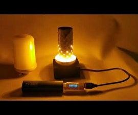 Battery Powered Flickering Flame Lightbulb