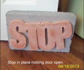 Make A Variation Of The Concrete Doorstop