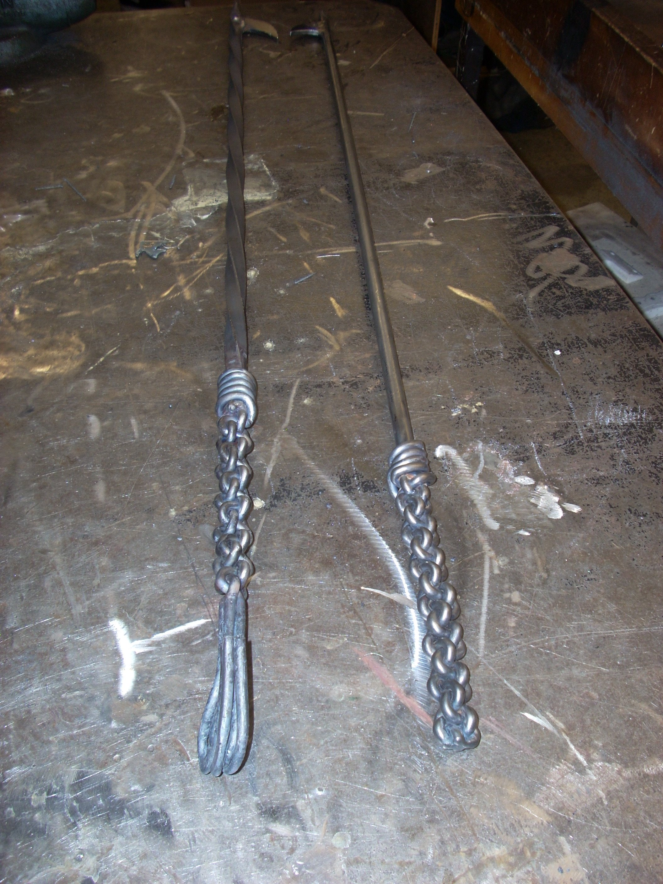 Picture of Tied and Forged Fire Poker