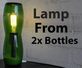 Lamp From 2 Glass Bottles
