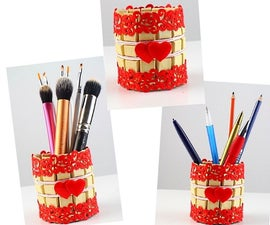 HOW TO MAKE VALENTINE'S DAY GIFT IDEAS! Pen Stand Clothespins