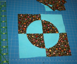 Sew an easy, stress free Drunkard's path quilt block