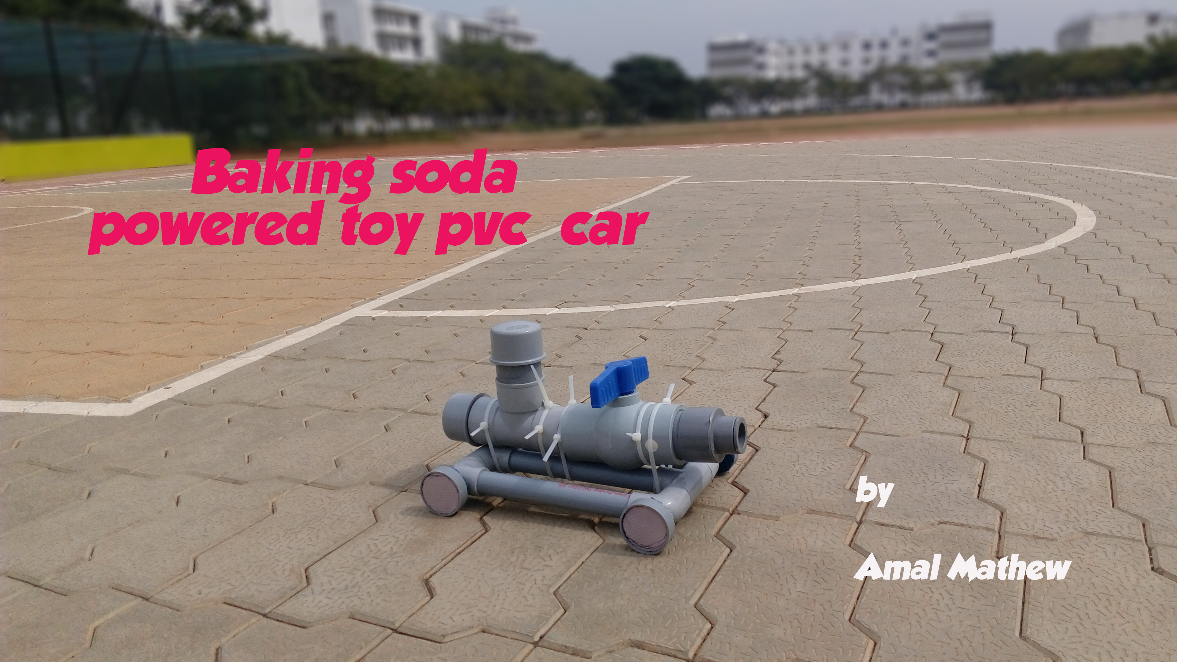 Picture of Baking Soda Powered Toy PVC Car(just a  Concept)