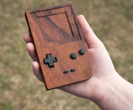 Wooden Game Boy Pocket with Cartidge