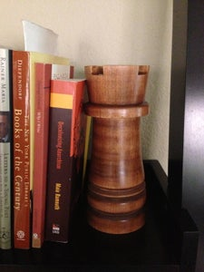 Wooden Chess Rook Piece for the Coffee Table