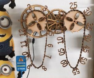 Wooden Chain Clock