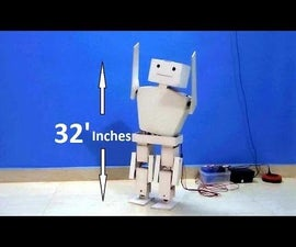 Arduino based humanoid robot using servo motors