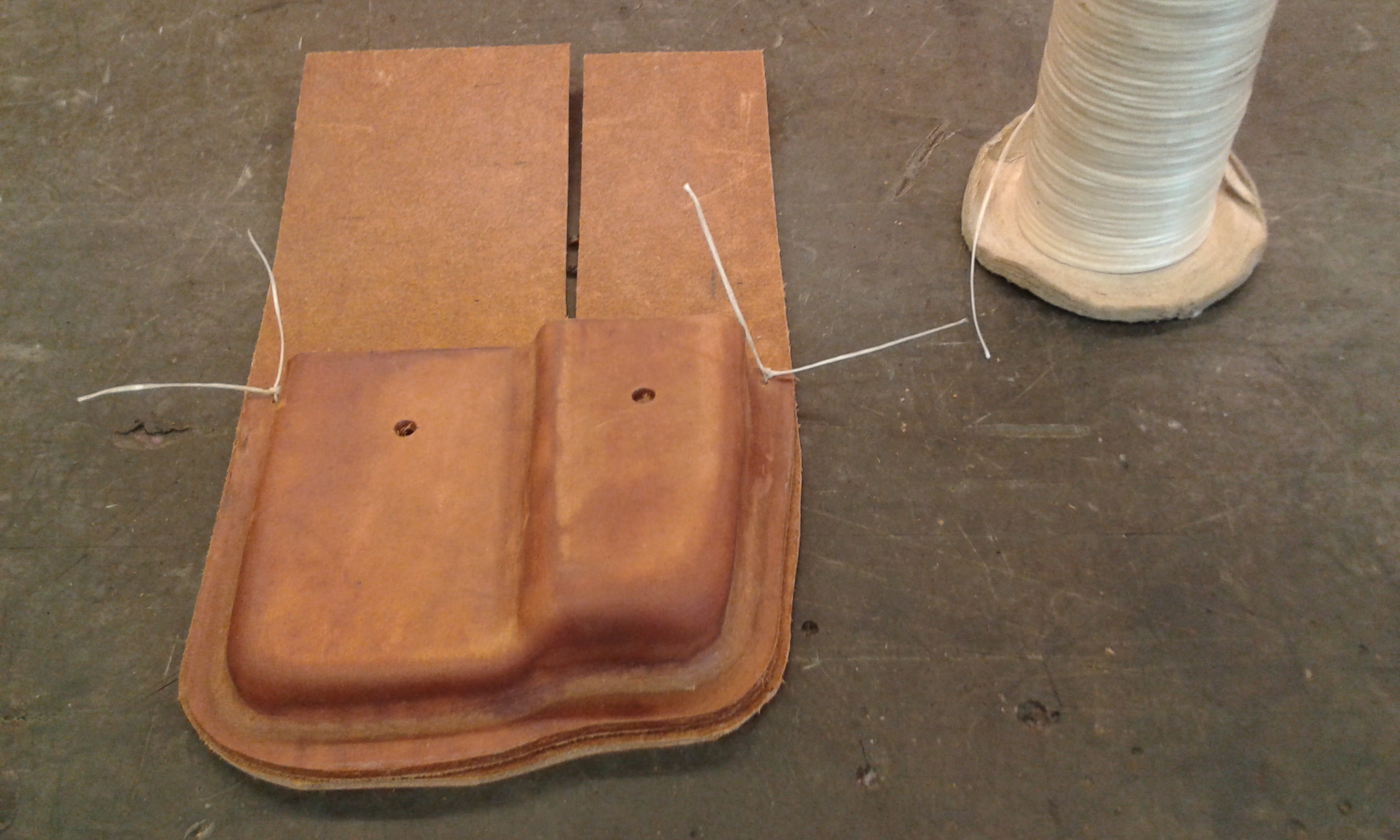 Picture of Holes for the Stitching.