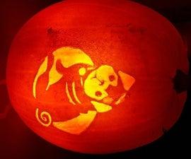 Laser Engraved PUGkin (Pumpkin)