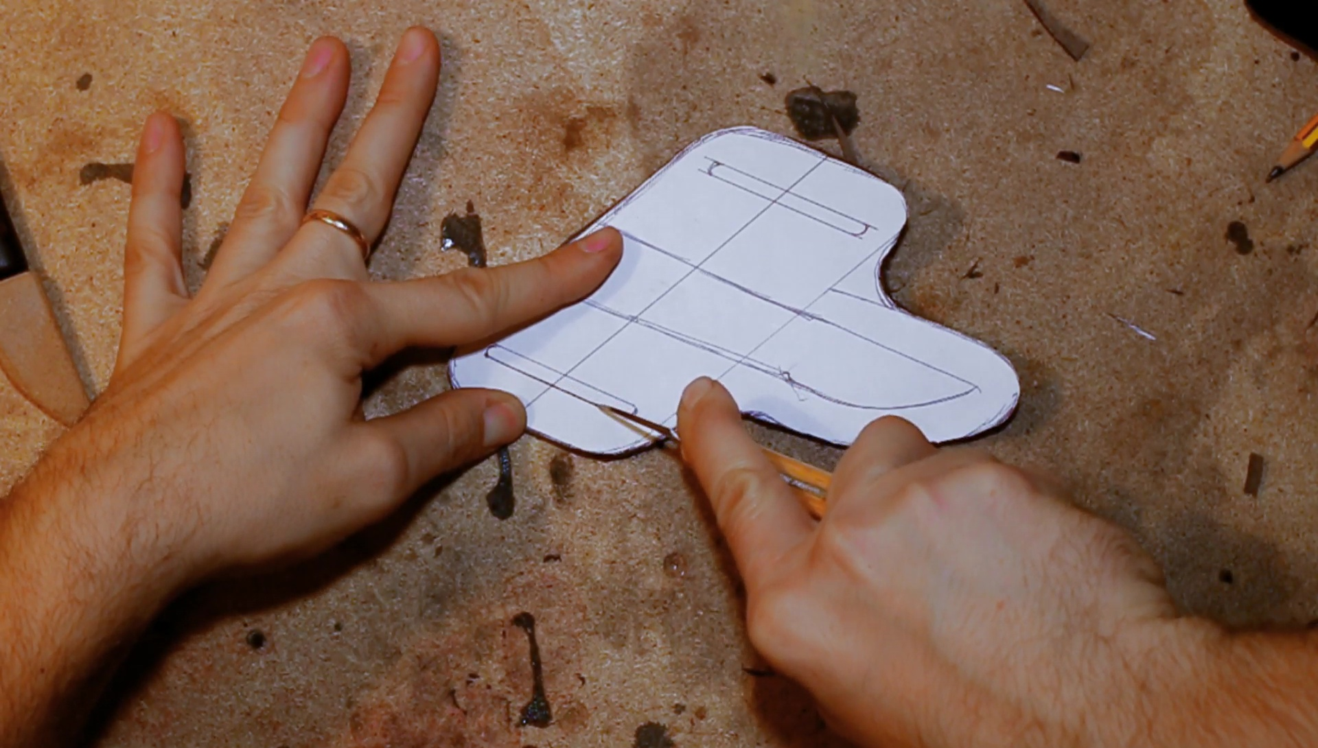 Picture of Cutting the Back Leather