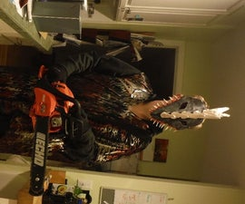 Chainsaw Monster Halloween Costume Prototype