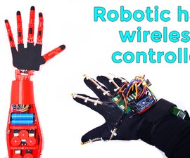 Robotic Hand With Wireless Glove Controlled | NRF24L01+ | Arduino