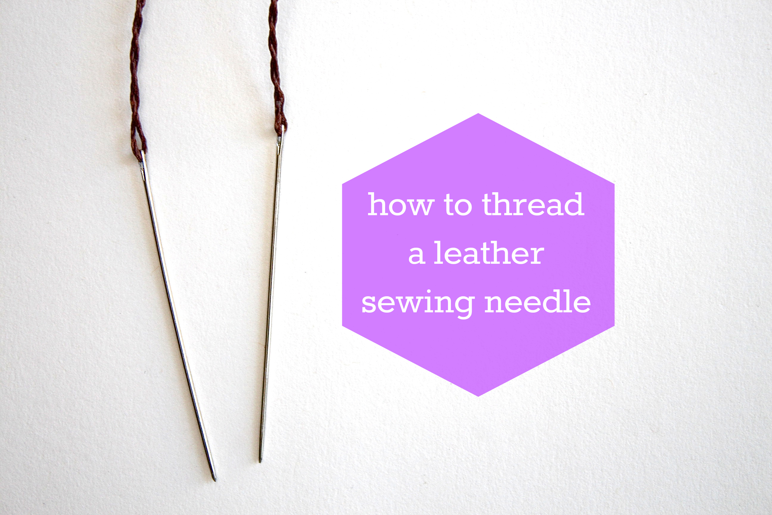 Picture of How to Thread a Leather Needle