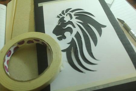 Transferring Your Design Unto the Cardboard: