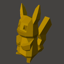 (mesh to Svg Workflow)HOW to Laser Cut Low-Poly Pikachu Using Meshmixer and Inkscape
