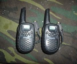 Add an earpiece to your walkie talkies