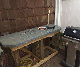 Fiber-Optic Accented Outdoor Concrete Bartop/Table