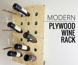 Modern Plywood Wine Rack