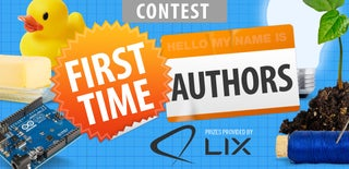 First Time Author Contest 2016