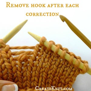 Remove Hook From the Loop After Each Picked Up Stitch…this Will Keep You From Twisting the Stitches.