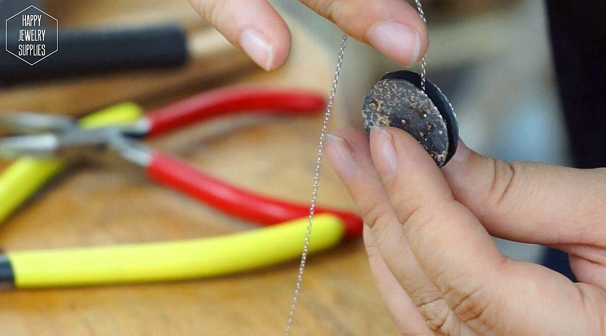 Picture of Cleaning the Pendant and Add in Silver Chain