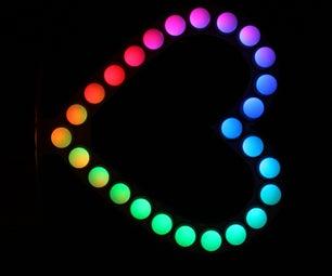 Neopixel LED Heart