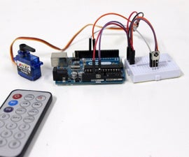 Controlling servo motor using IR remote control
