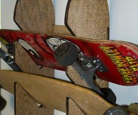 Laser Cut/Engraved Skateboard Rack