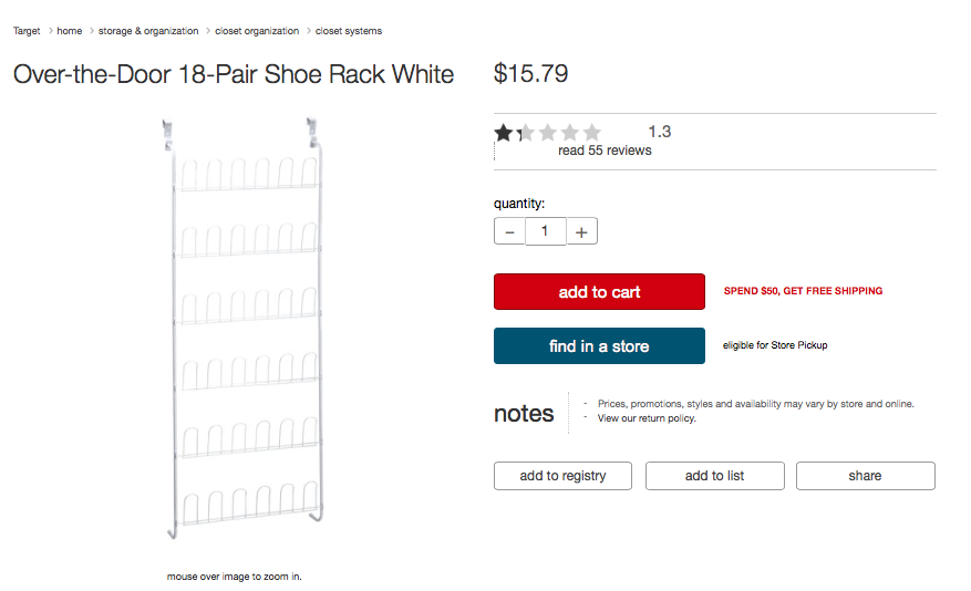 Picture of Find Shoe Rack
