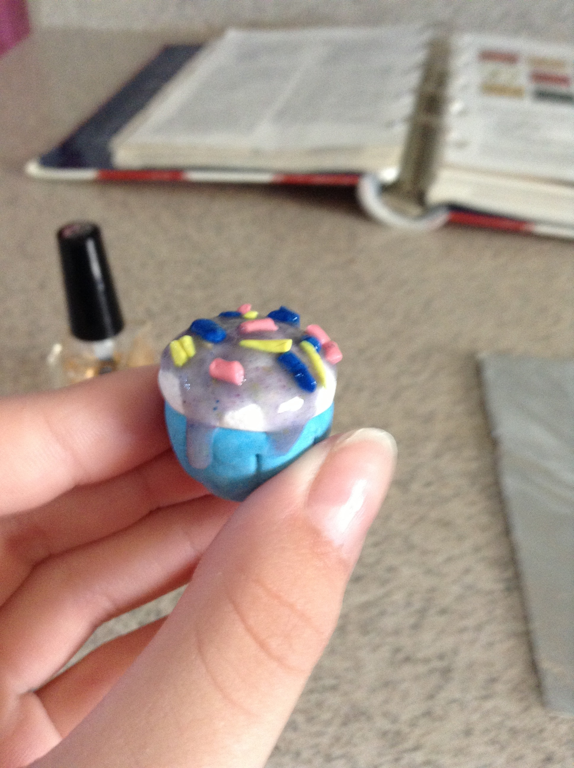 Picture of Polymer Clay Cosmic Cupcake