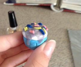 Polymer Clay Cosmic Cupcake