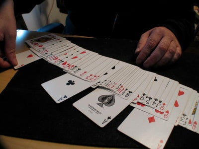 Performing the Trick, Step by Step: First Phase, Pulling Out the Aces.