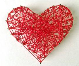 DIY: Valentine's Day Room Decor/Gift Ideas   DIY String Heart