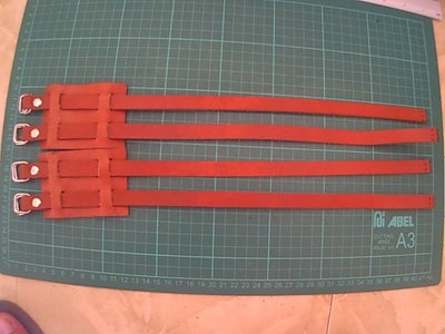 Leather Toe Cage Pedal Straps